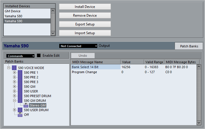Opening the MIDI Device Manager