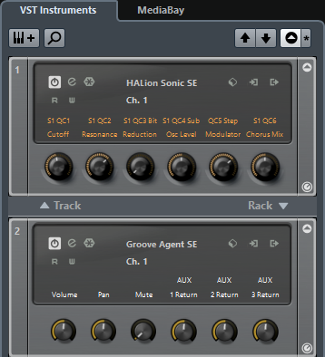VST Instruments in the Right Zone (not in Cubase LE)