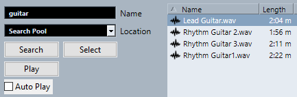 Searching For Audio Files