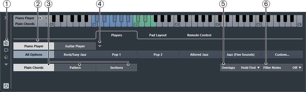 Chord Pad Settings Players