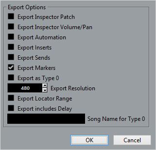 Exporting MIDI files