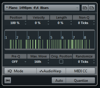 Options for Quantizing to a Groove
